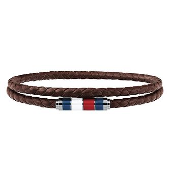 Tommy Hilfiger Men's Brown Leather Bracelet - Product number 4133862