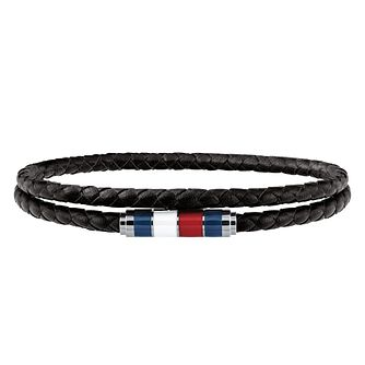 Tommy Hilfiger Men's Black Leather Bracelet - Product number 4133870
