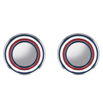 Tommy Hilfiger Men's Stainless Steel Fine Circle Cufflinks - Product number 4133889