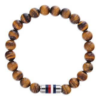Tommy Hilfiger Men's Tiger's Eye Bead Bracelet - Product number 4133897