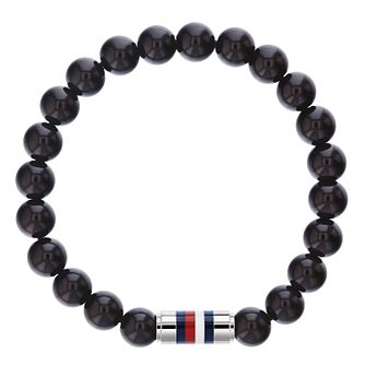 Tommy Hilfiger Men's Black Onyx Bead Bracelet - Product number 4133900