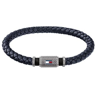 Tommy Hilfiger Casual Men's Black Leather Bracelet - Product number 4134001