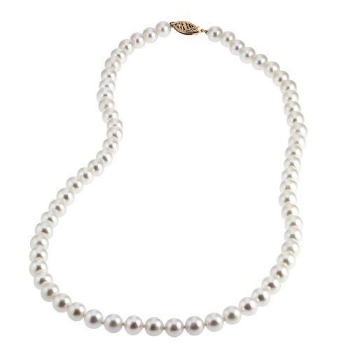 9ct Gold Certified Cultured Freshwater Pearl Necklace - Product number 4137450