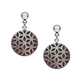 Fossil Stainless Steel & Hematite Disc Drop Earrings - Product number 4138384