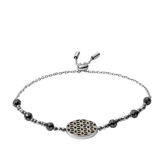Fossil Stainless Steel & Hematite Disc Bracelet - Product number 4138392