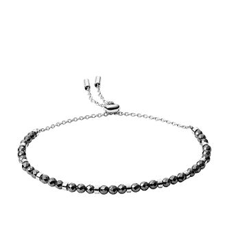 Fossil Stainless Steel Hematite Bead Bracelet - Product number 4138414
