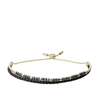 Fossil Gold Tone Hematite Bead Bracelet - Product number 4138643