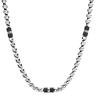 Fossil Men's Stainless Steel Belcher Necklace - Product number 4140338