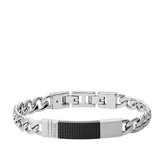 Fossil Men's Stainless Steel Flat Curb Bracelet - Product number 4140400