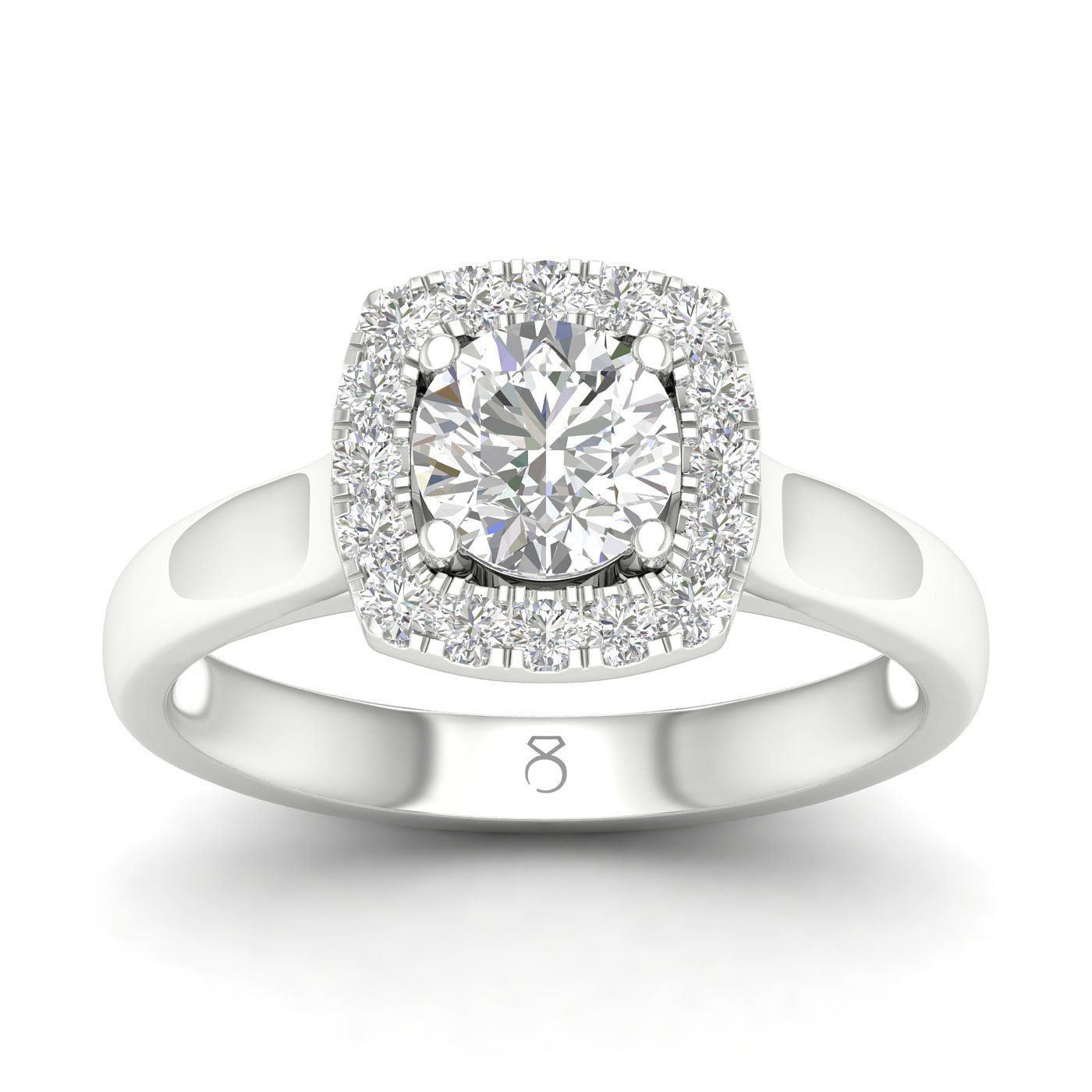 The Diamond Story 18ct White Gold 1ct Diamond Halo Ring - Product number 4142845