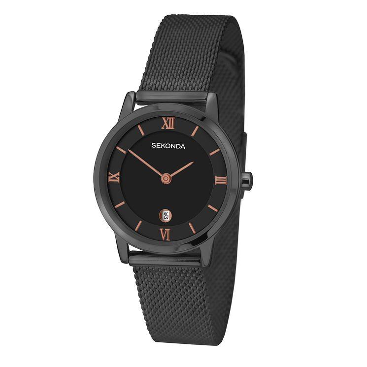 Sekonda La s Black Dial Stainless Steel Bracelet Watch