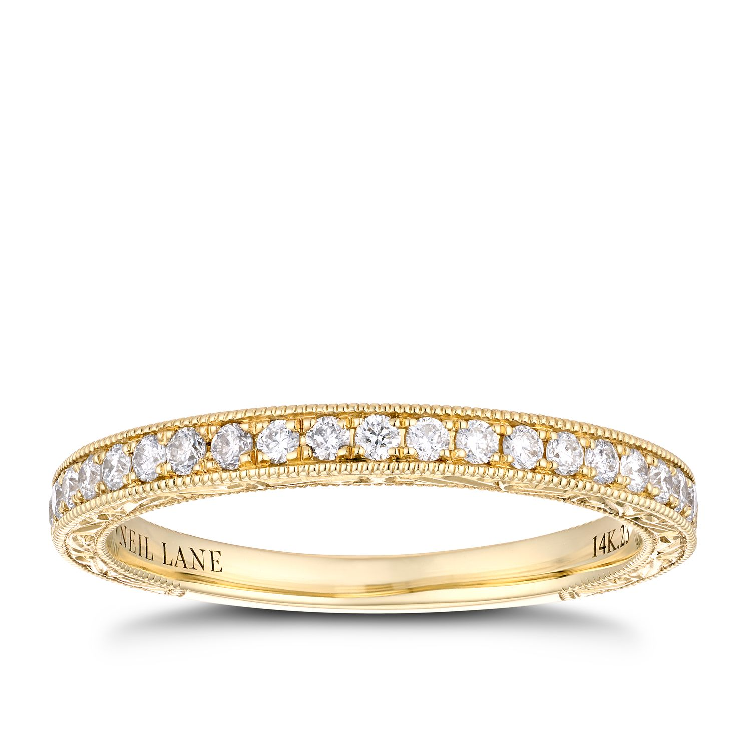 Neil Lane 14ct Yellow Gold 0.23ct Diamond Wedding Ring - Product number 4149963
