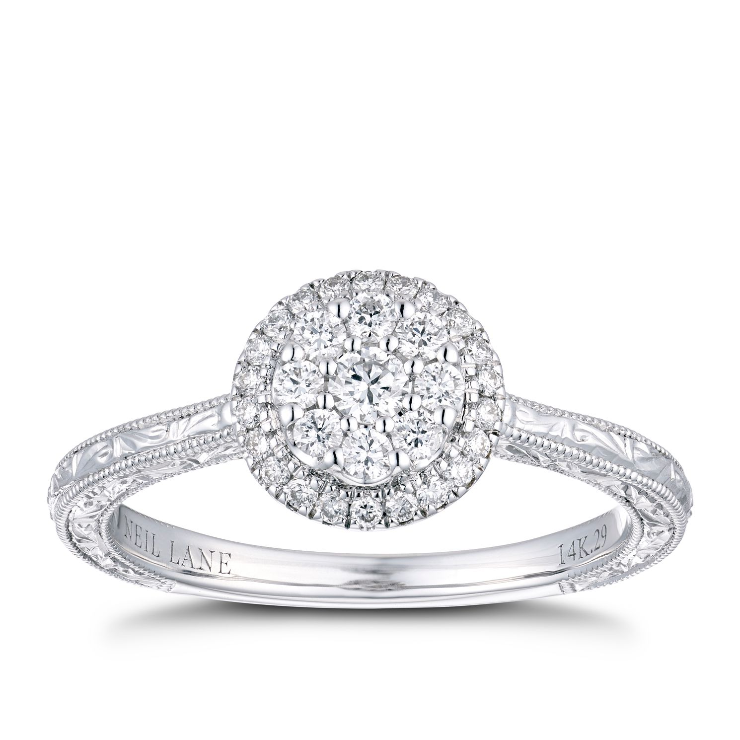 Neil Lane 14ct White Gold 0.29ct Diamond Engagement Ring - Product number 4150260