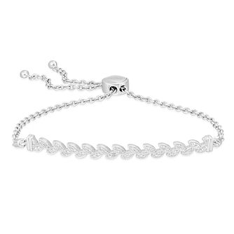 Neil Lane Designs Silver 0.14ct Diamond Leaf Bracelet - Product number 4151046