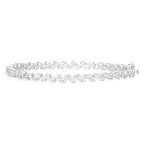 Neil Lane Designs Silver 0.15ct Diamond Leaf Bangle - Product number 4151062