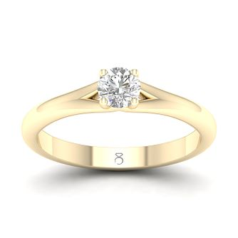 The Diamond Story 18ct Yellow Gold 1/4ct Diamond Ring - Product number 4152220