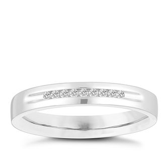 18ct White Gold Diamond Channel Wedding Ring - Product number 4155025