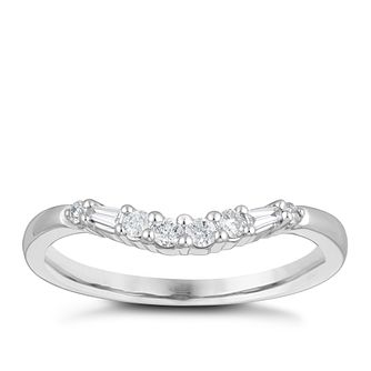 18ct White Gold 0.15ct Diamond Shaped Wedding Ring - Product number 4155513