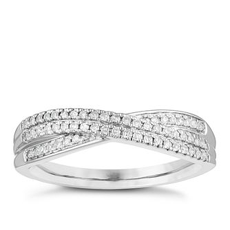Platinum 0.15ct Diamond Double Row Wedding Ring - Product number 4156552