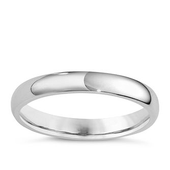 Platinum 3mm Super Heavyweight Court Ring - Product number 4165721