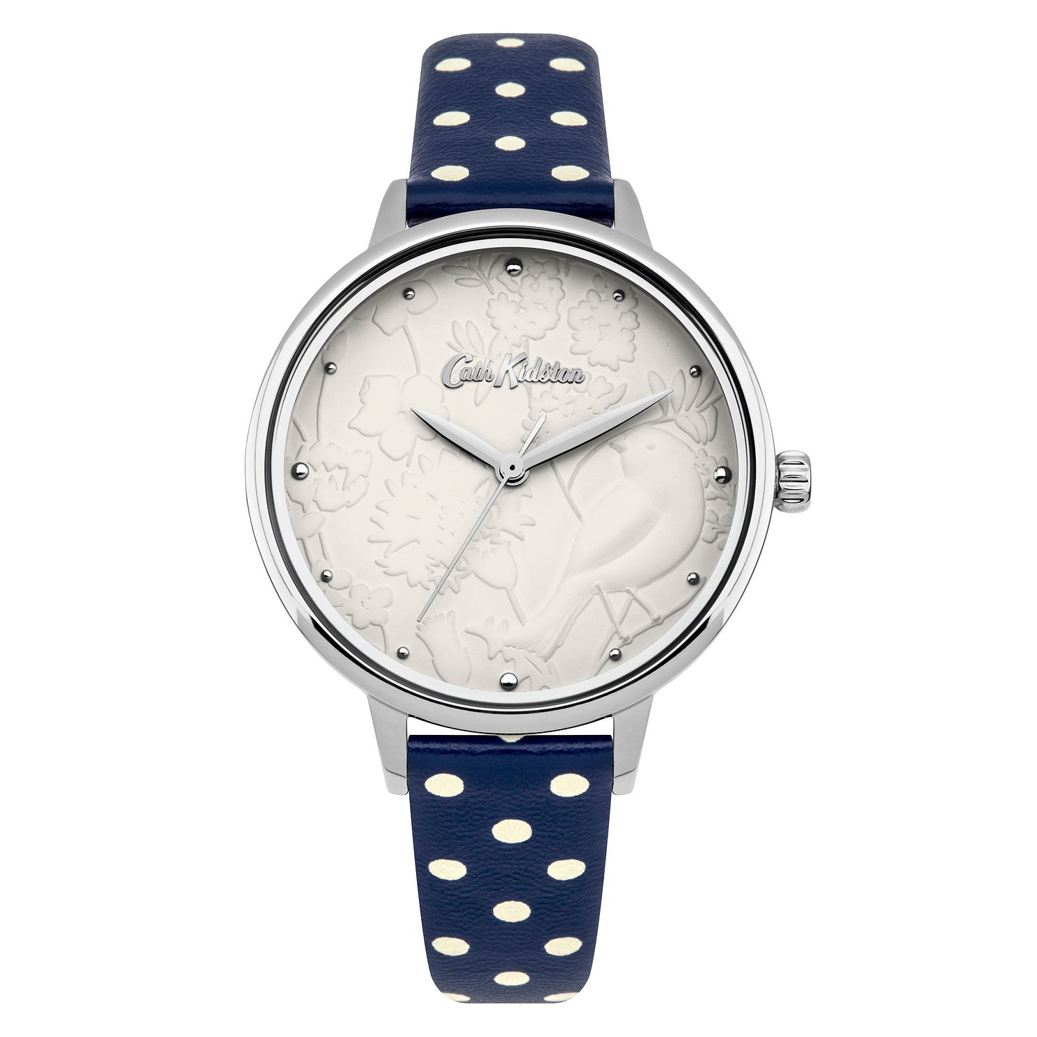 Cath Kidston Ladies' Navy Spot Strap Watch - Product number 4166655