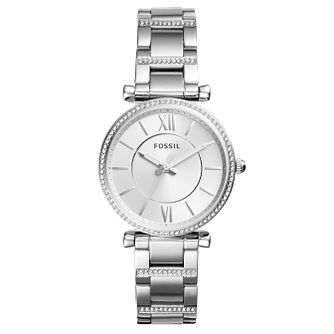 Fossil Carlie Ladies' Stainless Steel Bracelet Watch - Product number 4166701