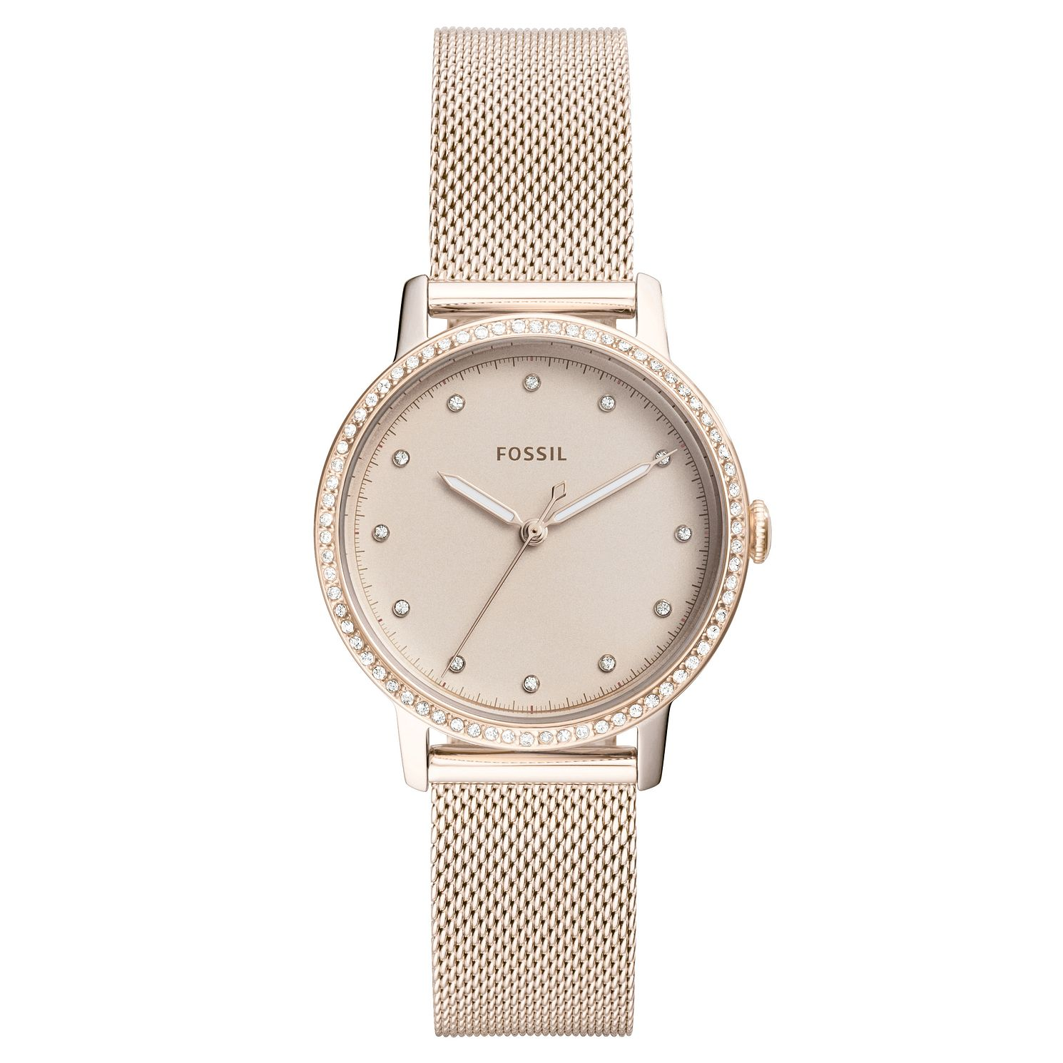 Fossil Neely Ladies' Rose Gold Tone Stone Set Bracelet Watch - Product number 4166736
