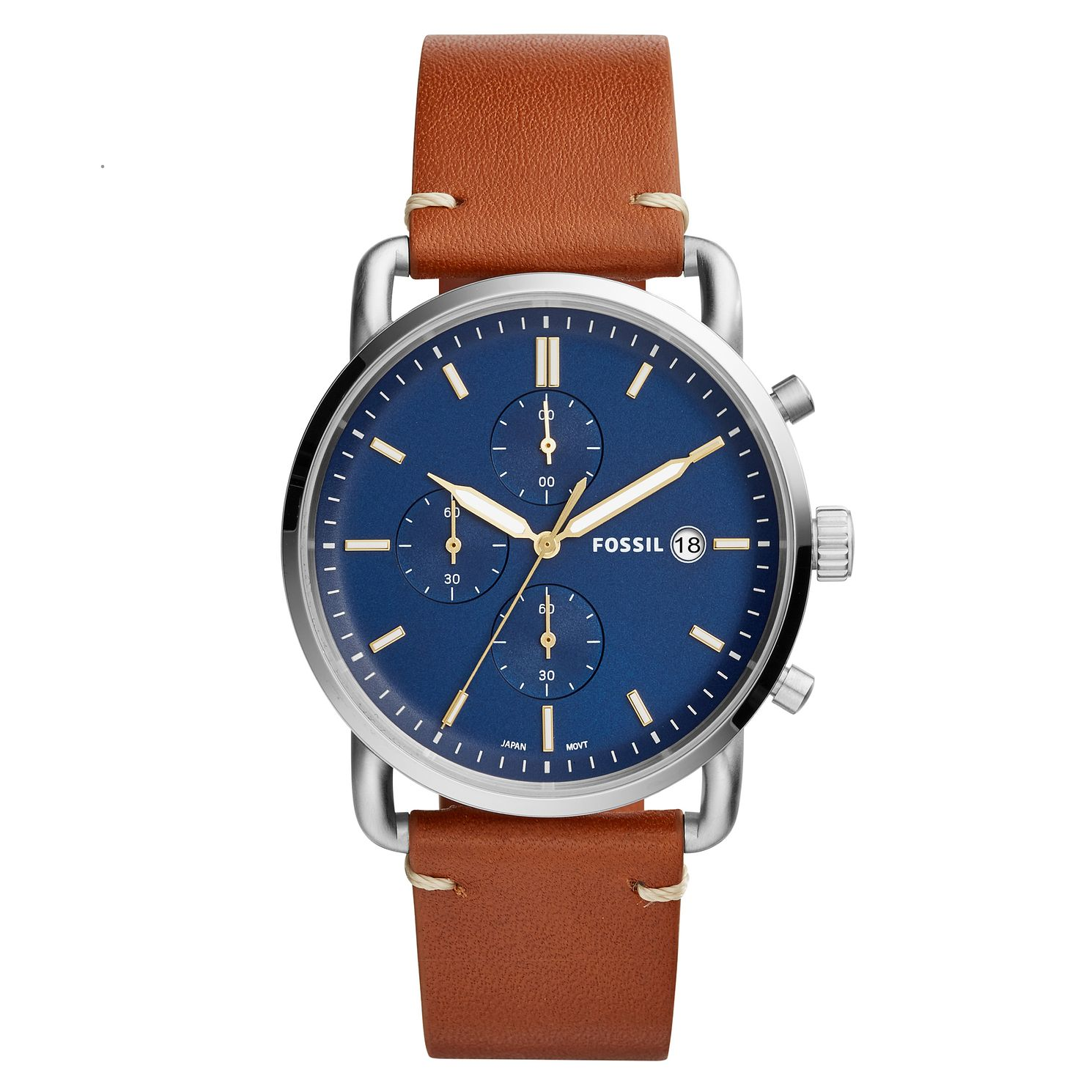 Fossil Commuter Men's Chronograph Brown Strap Watch - Product number 4166744