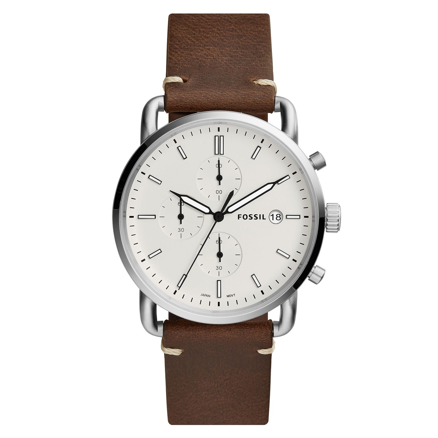 Fossil Commuter Men's Chronograph Brown Strap Watch - Product number 4166752