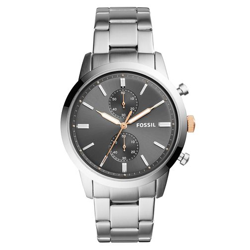 Fossil Townsmen Men's Chronograph Grey Bracelet Watch - Product number 4166760