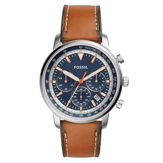 Fossil Goodwin Men's Chronograph Leather Strap Watch - Product number 4166787