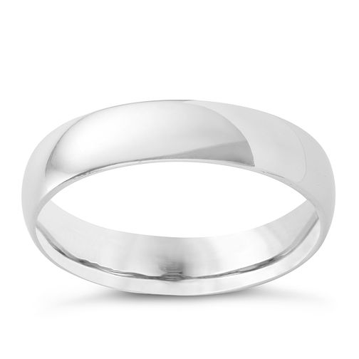 Platinum 5mm super heavyweight court ring - Product number 4166981