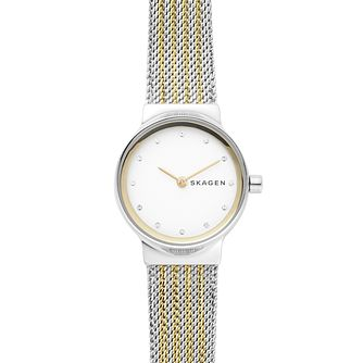 Skagen Freja Ladies' Two Tone Mesh Bracelet Watch - Product number 4167767