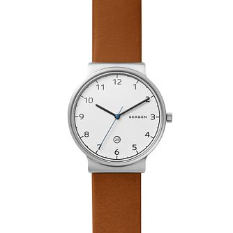 Skagen Men's Stainless Steel Ancher Silver Strap Watch - Product number 4168070