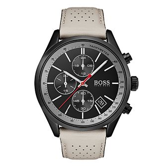 BOSS Grand Prix Men's Ion Plated Strap Watch - Product number 4168240