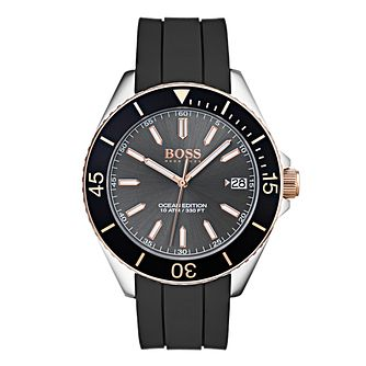 BOSS Ocean Edition Men's Black Strap Watch - Product number 4168259