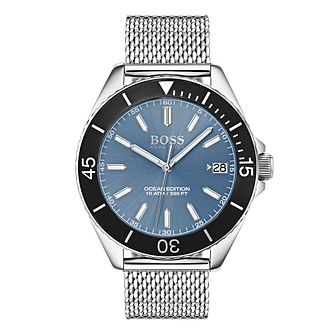 BOSS Ocean Edition Men's Blue Dial Bracelet Watch - Product number 4168291