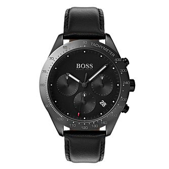 BOSS Talent Men's Black Ceramic Strap Watch - Product number 4168321