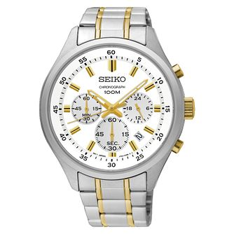 Seiko Men's Stainless Steel Bracelet Chronograph Watch - Product number 4168445