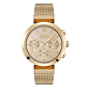 Hugo Boss Classic Ladies' Yellow Gold Tone Bracelet Watch - Product number 4168453