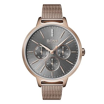 Hugo Boss Symphony Ladies' Rose Gold Tone Bracelet Watch - Product number 4168704