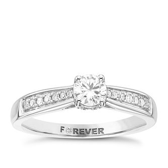 The Forever Diamond 18ct White Gold 0.40ct Total Ring - Product number 4169212