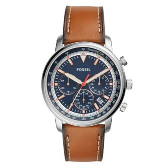 Fossil Men's Brown Leather Strap Chronograph Watch - Product number 4170601