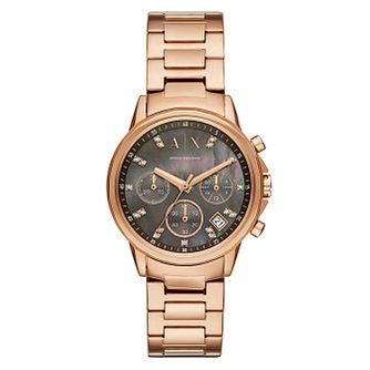 Armani Exchange Lady Banks Ladies' Rose Gold Tone Watch - Product number 4172027