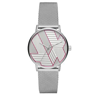 Armani Exchange Ladies' Silver Tone Mesh Watch - Product number 4172701