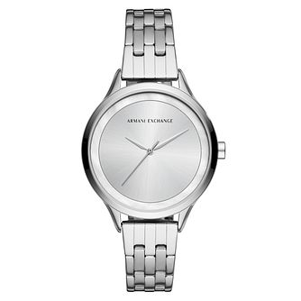 Armani Exchange Ladies' Silver Tone Bracelet Watch - Product number 4172817