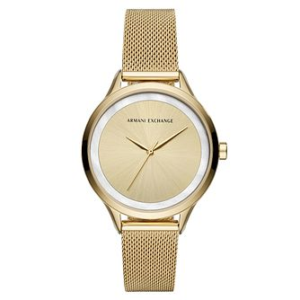 Armani Exchange Ladies' Gold Tone Bracelet Watch - Product number 4172833
