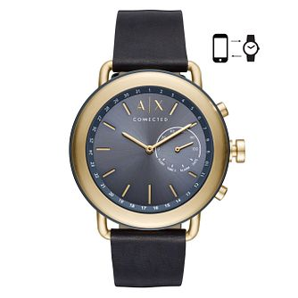 Armani Exchange Luca Men's Leather Strap Hybrid Smartwatch - Product number 4172876