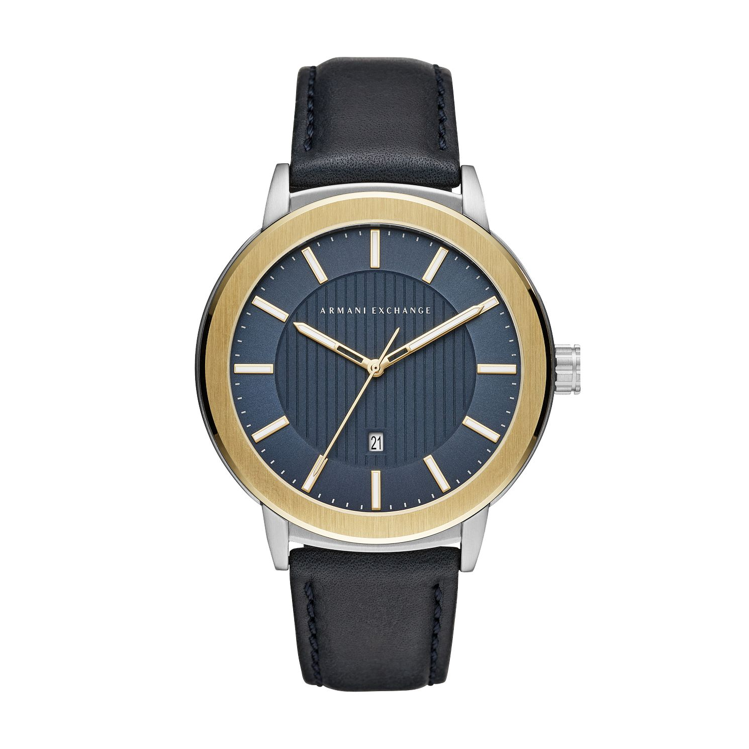 Armani Exchange Men's Blue Leather Strap Watch - Product number 4172906