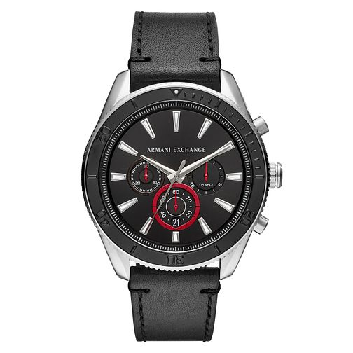 Armani Exchange Men's Black Leather Strap Watch - Product number 4172949